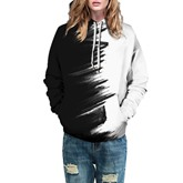 Color Block Casual Prints Loose Couple's Hoodie