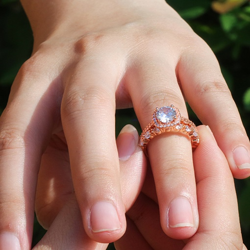 Romantic Diamante Engagement Rings