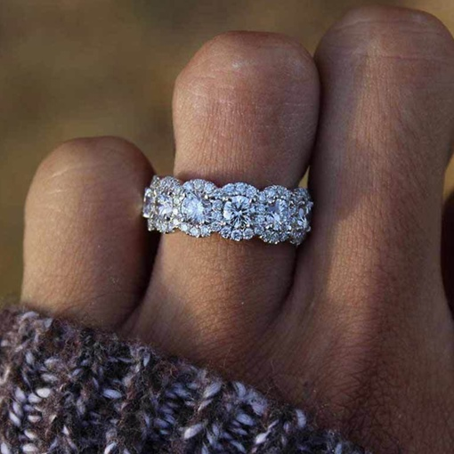 Romantic Diamante Wedding Gift Rings