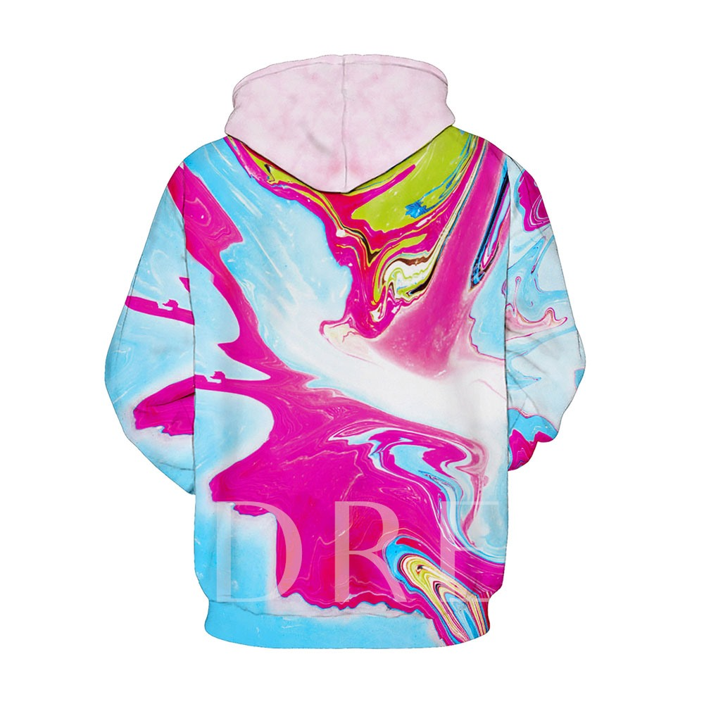 Loose Hooded Colorful Couple's Hoodie