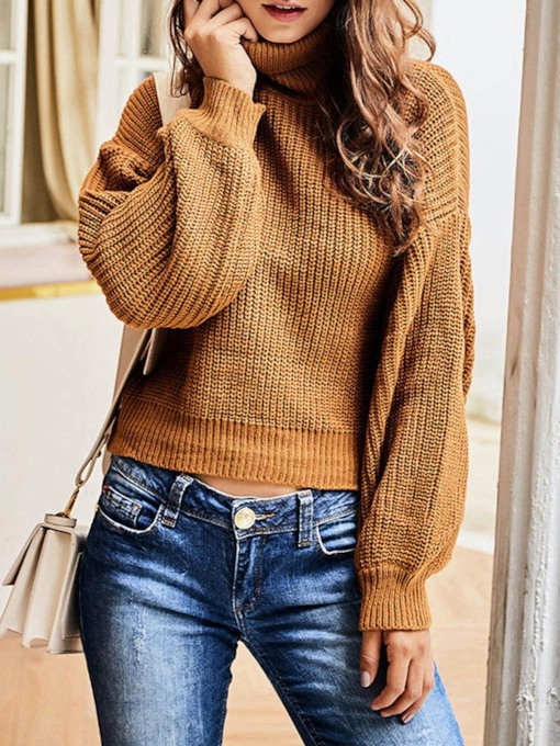 Regular High Neck Standard Women's Sweater