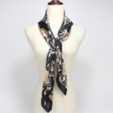 Fashion Charmeuse Color Block Scarves
