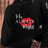 Loose Casual Letter Couple's Hoodie