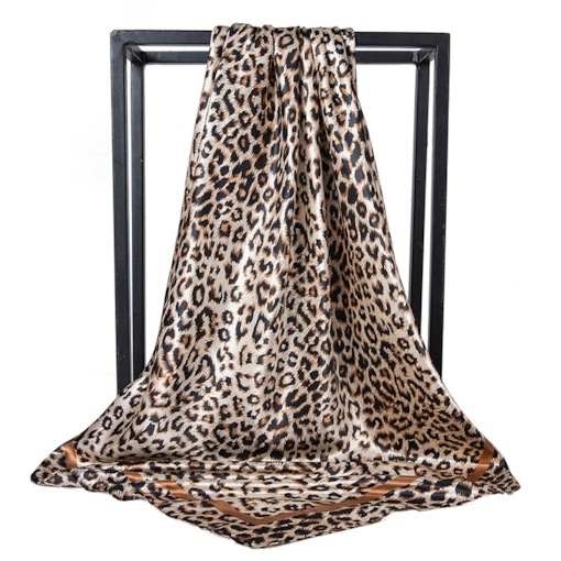 Charmeuse Print Fashion Leopard Scarves
