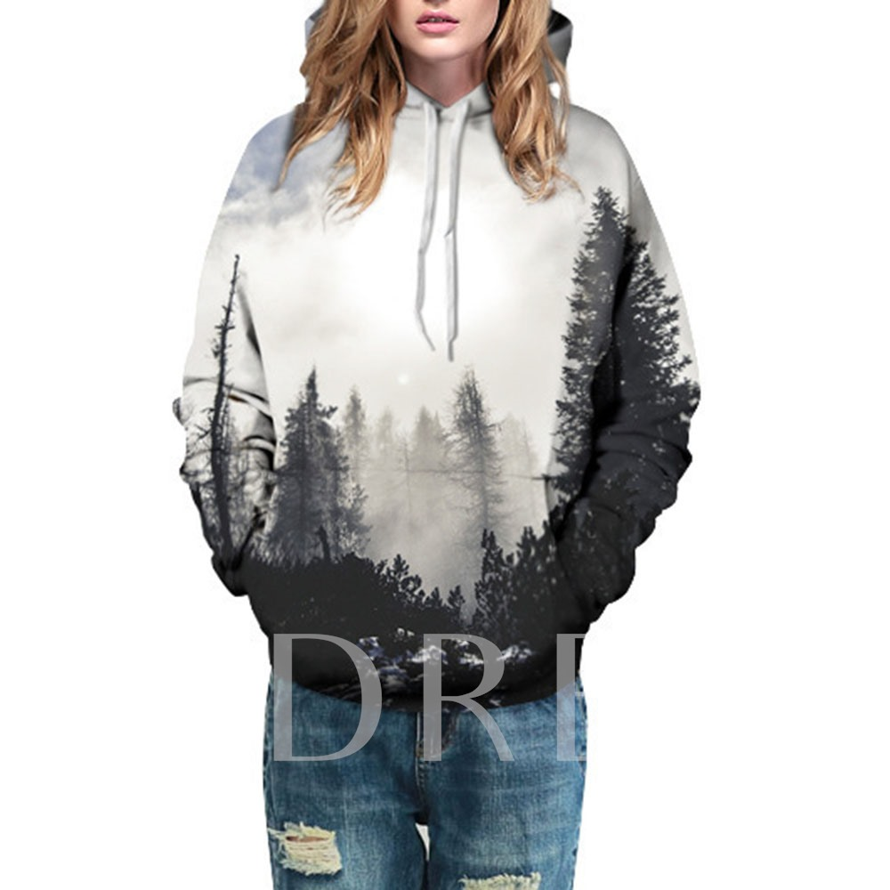 Tree Casual Loose Couple's Hoodie
