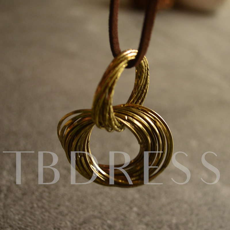 E-Plating Plain Rope Chain Necklace