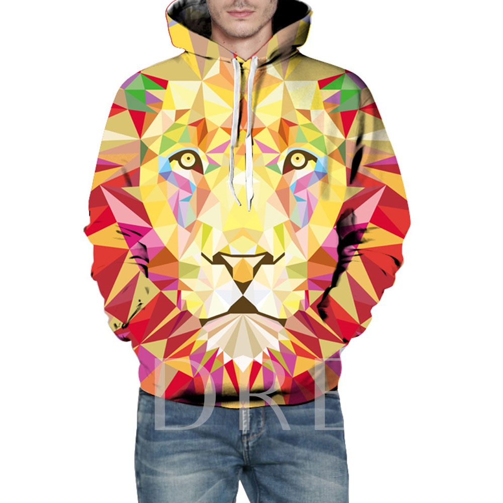 Casual Hooded Loose Animal 3D Couple's Hoodie
