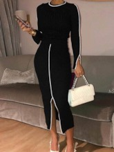Elegant Skirt Pullover Women's Two Piece Sets