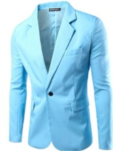 Slim Casual Plain One Button Men's leisure Suit