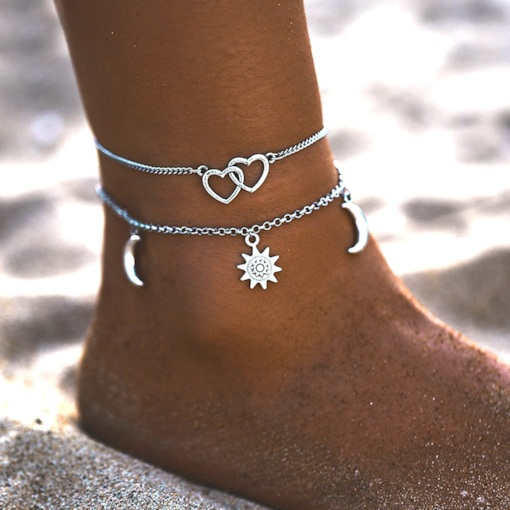 Sweet Female E-Plating Lover's Anklets