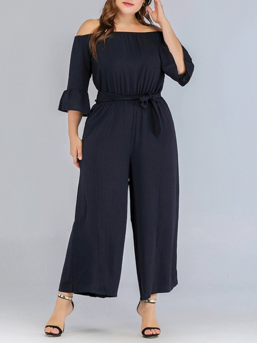 Ankle Length Plain Casual Loose Women's Jumpsuit