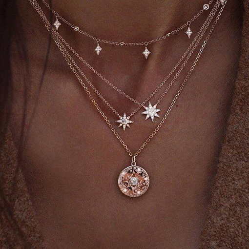 Pendant Necklace Diamante Female Necklaces