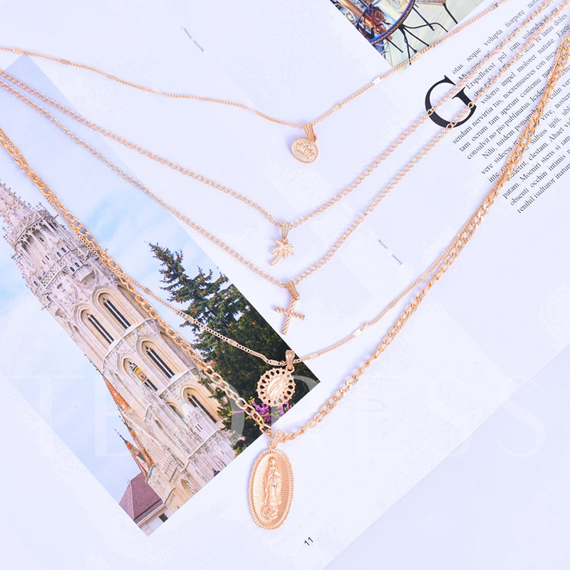 E-Plating European Female Sweather Necklaces