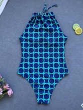 One Piece Geometric Sweet Women's Swimwear