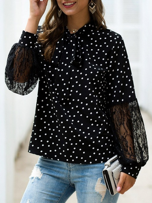 Print Polka Dots Women's Blouse