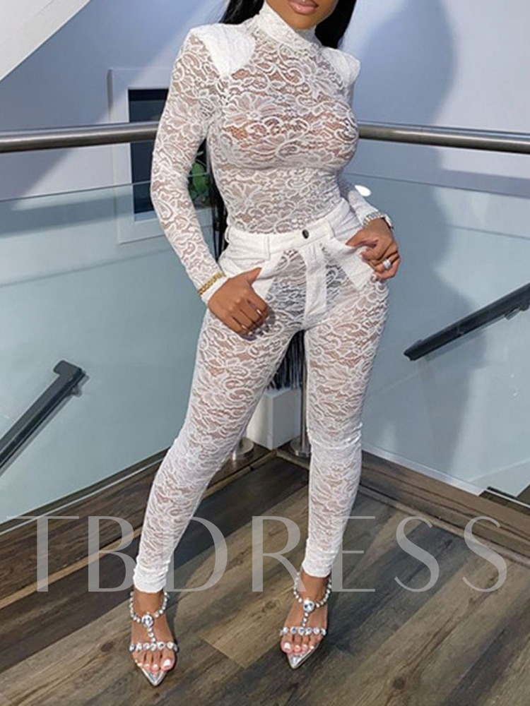 Lace Shirt Sexy Pullover Women's Two Piece Sets