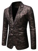 Single-Breasted Print Fashion Notched Lapel Men's leisure Suit