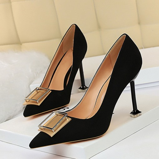 Sequin Slip-On Pointed Toe Banquet Pumps