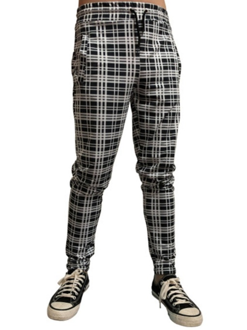 Print Plaid Pencil Pants Casual Men's Casual Pants