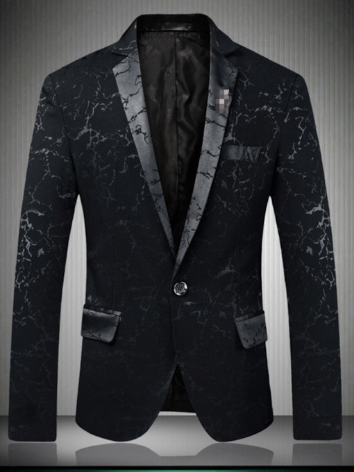 Fashion Print One Button Slim Men's leisure Suit