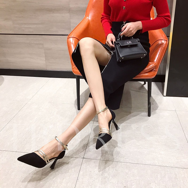 Pointed Toe Buckle Casual Women's Sandals