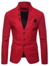 Simple Single-Breasted Slim Stand Collar Men's leisure Suit