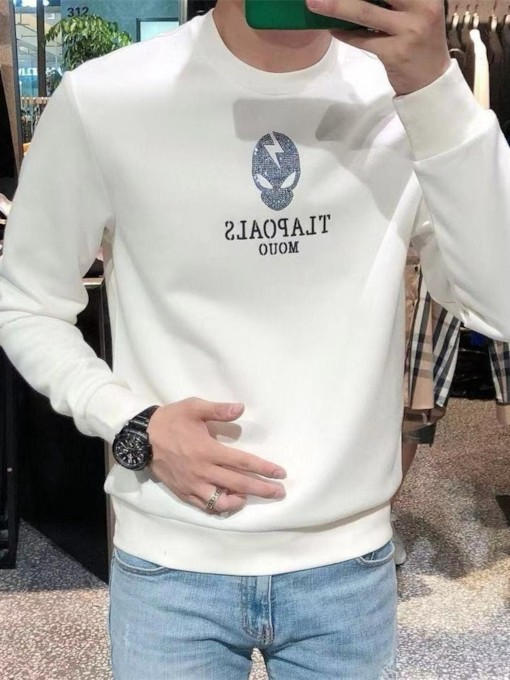 Thick Letter Pullover Sequins Pullover Men's Hoodies