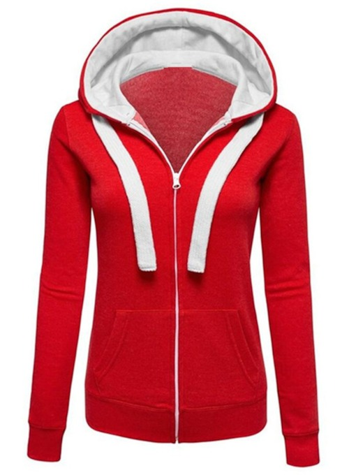 Slim Zipper Hooded Women's Jacket