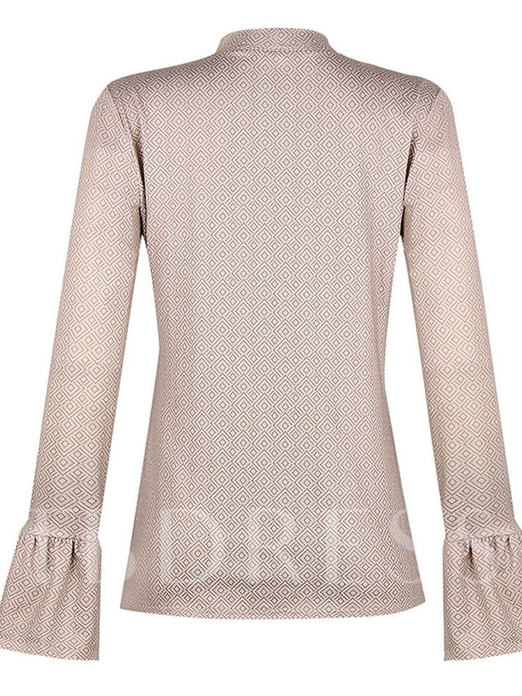 Plain Flare Sleeve Women's Blouse