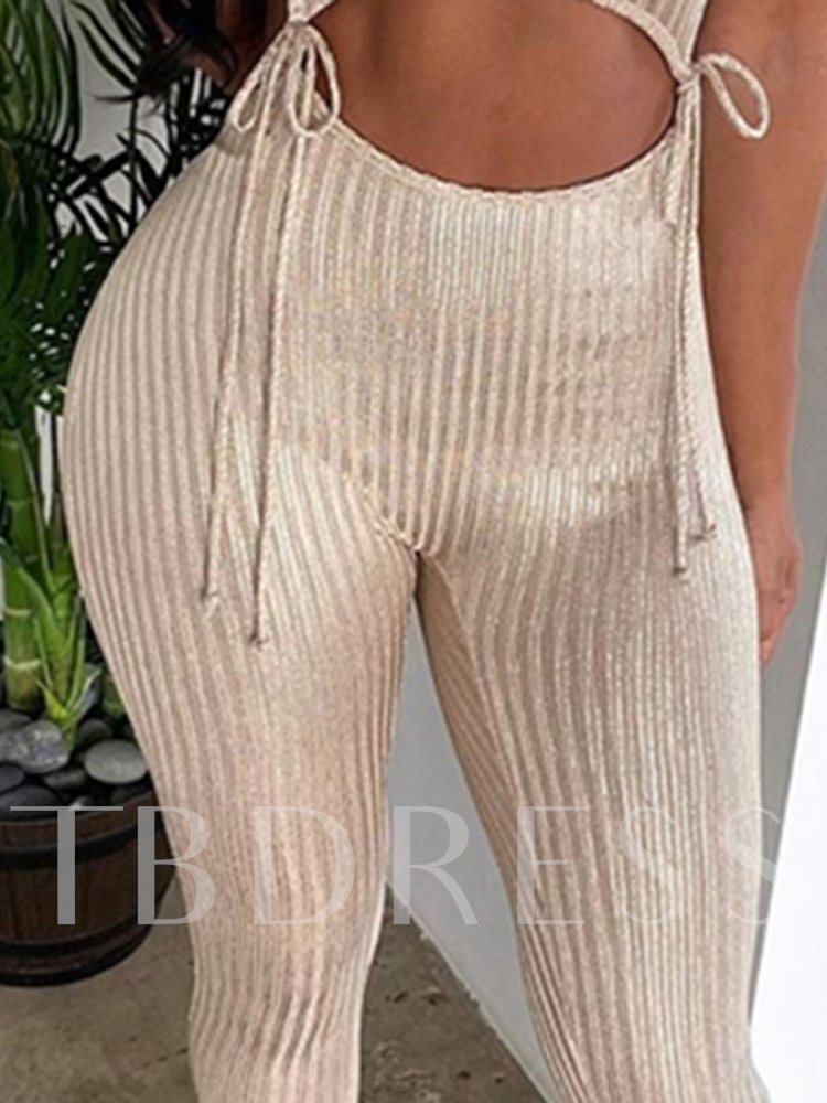 Western Plain Lace-Up Ankle Length Pants Pullover Women's Two Piece Sets
