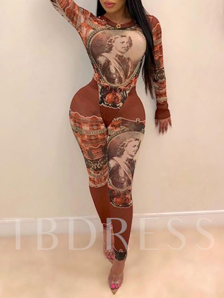 Dress Print Western Pullover Women's Two Piece Sets