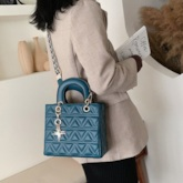 PU Quilted Lining Rectangle Tote Bags