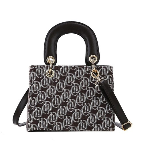 PU Letter Print Rectangle Tote Bags