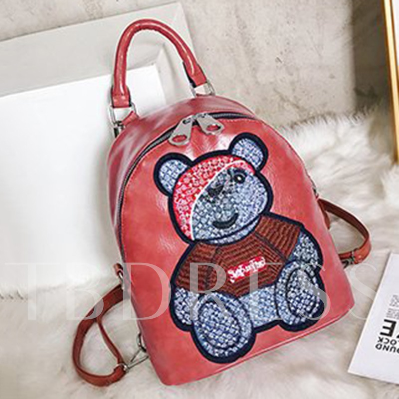 Applique PU Cartoon Backpacks