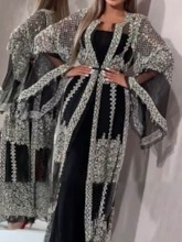 Sequins See Enough Long Women's Trench Coat