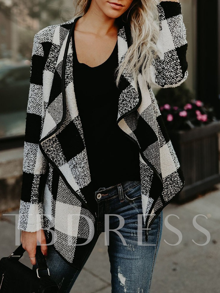 Plaid Loose Casual Western Women's Overcoat