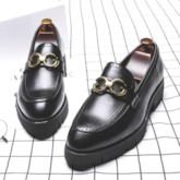 Plain Slip-On PU Leather Shoes for Men
