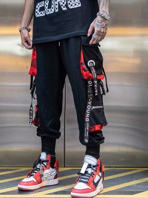 Streetwear Pocket Overall Casual Men's Casual Pants