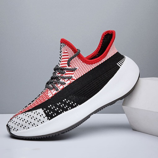 Platform Sports Outdoor Lace-Up Round Toe Men's Sneakers