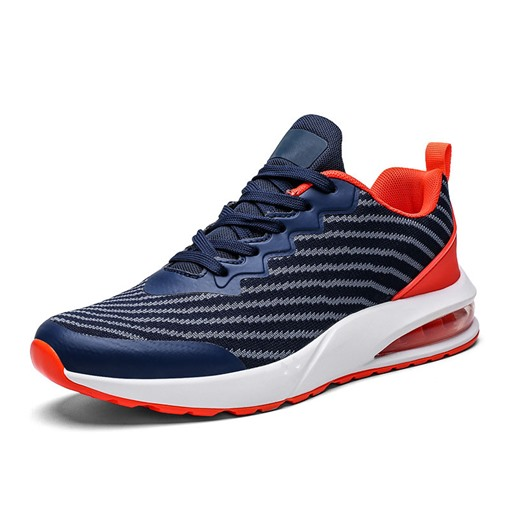 Platform Sports Lace-Up Air Cushioned Lace-Up Men's Sneakers