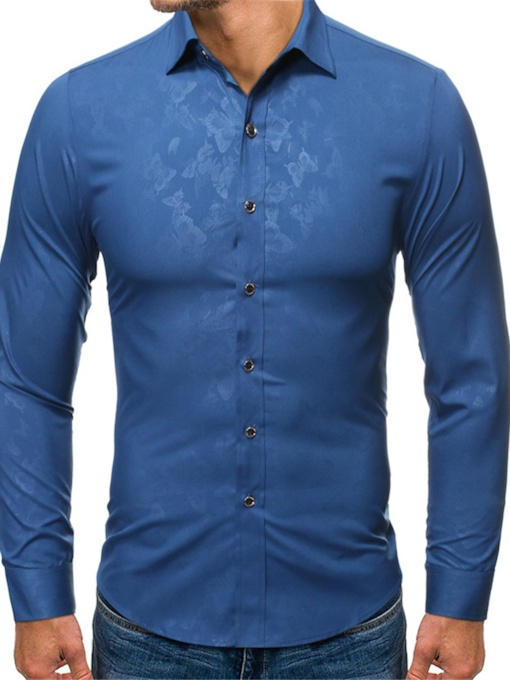 Casual Lapel Print Animal Single-Breasted Men's Shirt