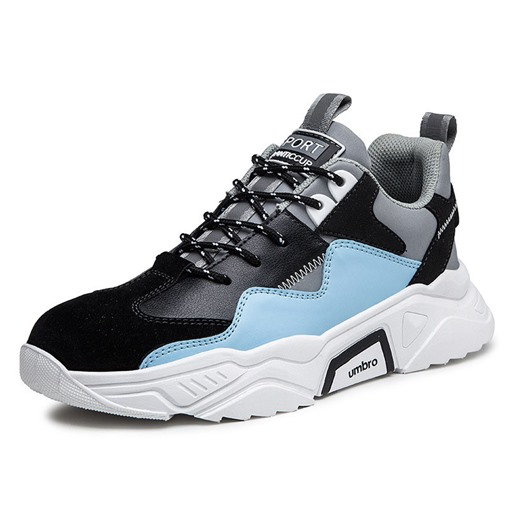 Lace-Up Platform Sports Round Toe Casual Men's Sneakers