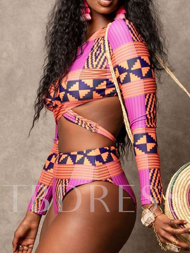 African Fashion Print Tankini Set Sexy Women's Swimwear