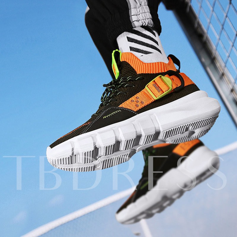 Platform High Top Sports Lace-Up Round Toe Men's Sneakers