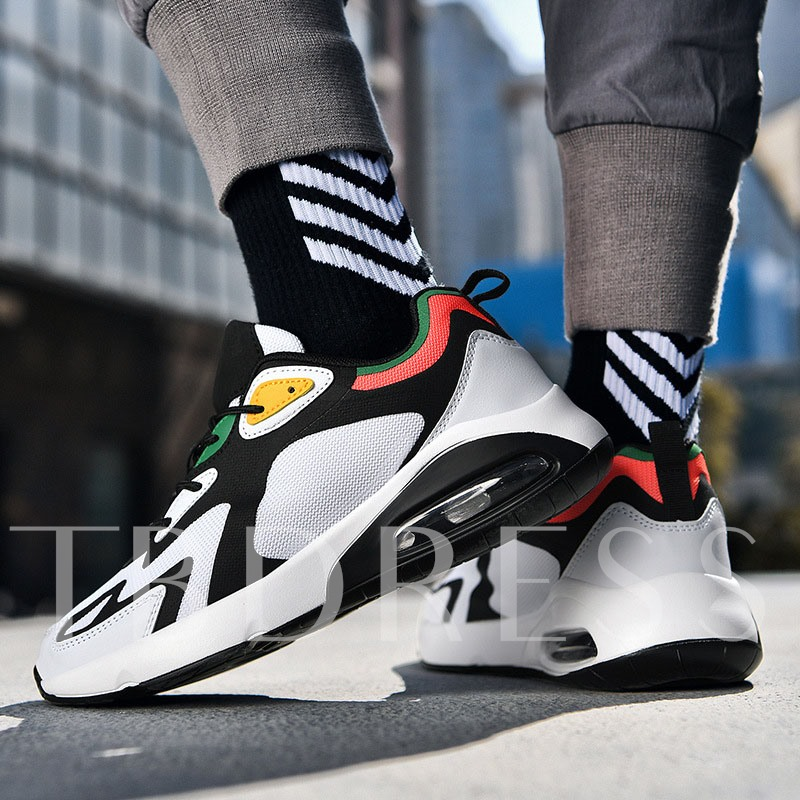 Lace-Up Platform Low-Cut Upper Sports Men's Mesh Sneakers
