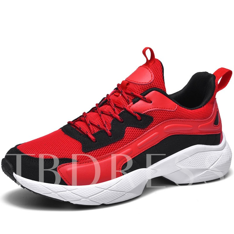 Sports Low-Cut Upper Lace-Up Platform Outdoor Men's Sneakers