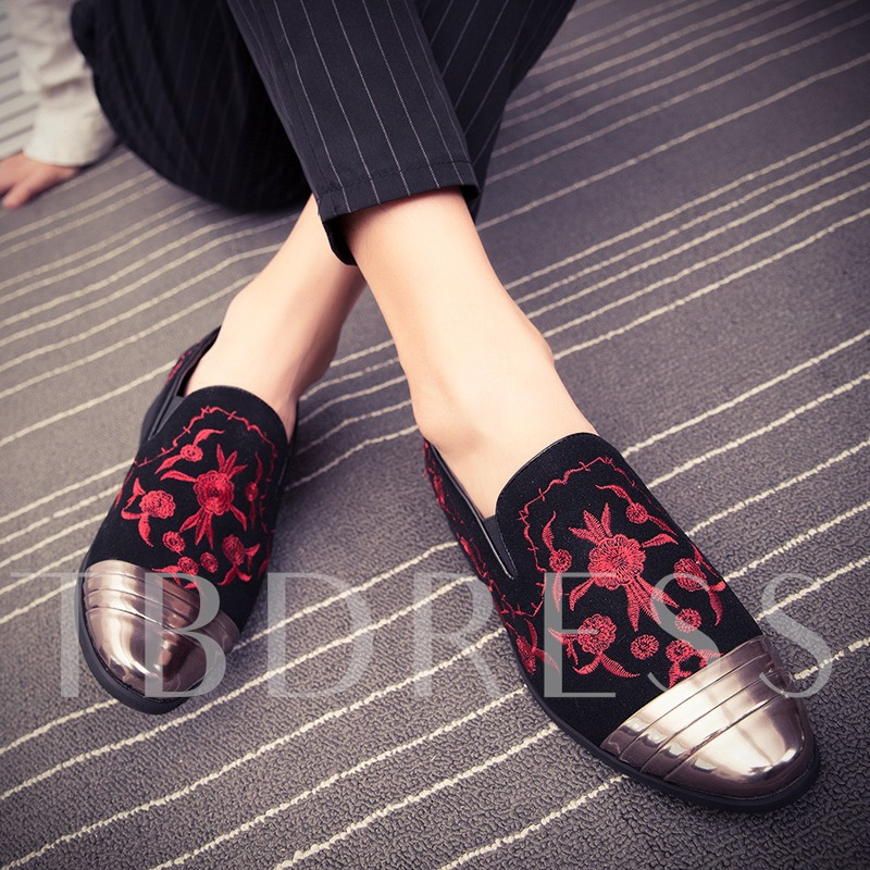 Patchwork Low-Cut Upper PU Elegant Men's Prom Shoes