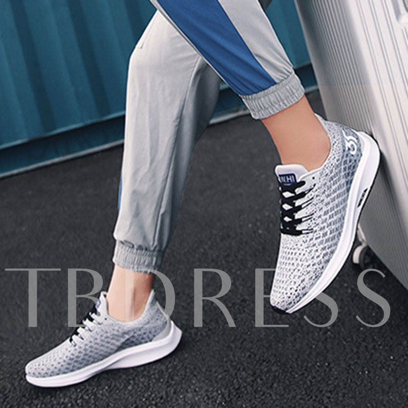 Sports Platform Lace-Up Round Toe Outdoor Men's Sneakers