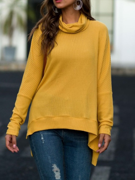 Regular Pile Collar Mid-Length Women's Sweater
