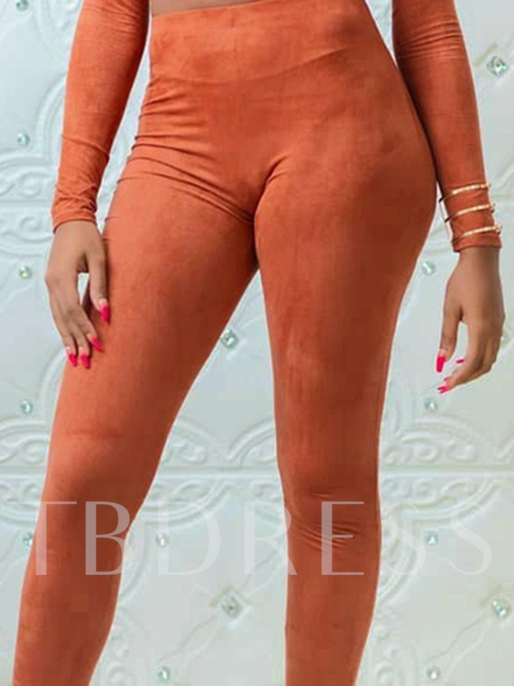 Western Plain Mid-Calf Pants Pullover Women's Two Piece Sets
